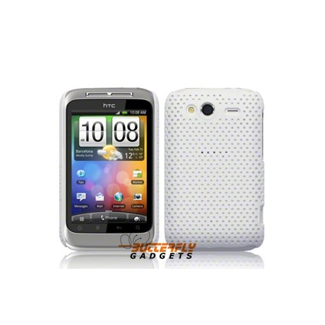 Mesh case cover hoesje voor HTC WildFire S (Wit)
