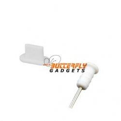 Set stofkapjes (dust cap) voor de iPhone 5, iPad 4 en iPad Mini - wit
