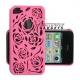 Hoesje met uitgesneden rozen motief voor de iPhone 4, 4s - Diverse kleuren