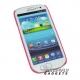 Hoesje van transparant flexibel plastic voor de Samsung Galaxy S3 SIII i9300