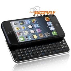Uitschuifbaar bluetooth toetsenbord - case voor de iPhone 5 - Zwart