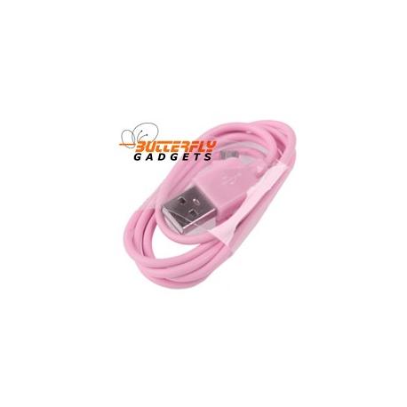 Micro USB oplaad en data kabel voor vele smartphone modelen - Roze