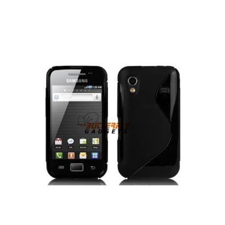 Hoesje van vormvast TPU materiaal voor de Samsung Galaxy Ace S5830 - Zwart