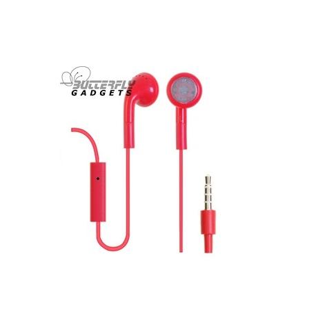 Handsfree headset voor iPhone en iPad met ingebouwde microfoon - Rood