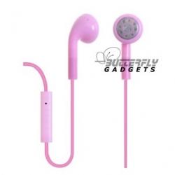 Handsfree headset voor iPhone en iPad met ingebouwde microfoon - Roze