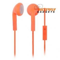 Handsfree headset voor iPhone en iPad met ingebouwde microfoon - Oranje