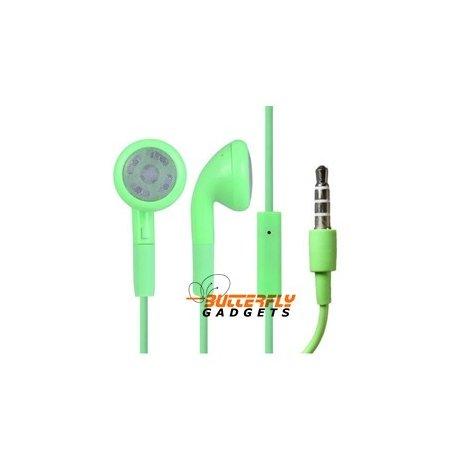 Handsfree headset voor iPhone en iPad met ingebouwde microfoon - Groen