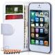 Boekvorm hoesje met pinpas vakjes voor de iPhone 5