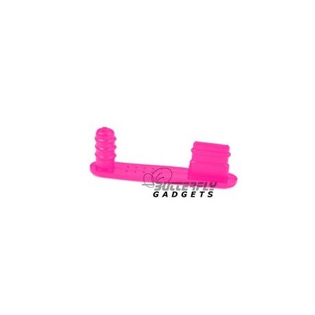 Roze en Felroze beschermkapje tegen stof en vuil voor de iPhone 5, 5s