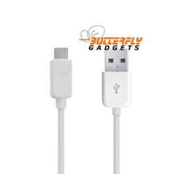 Witte micro USB kabel voor Samsung Galaxy S3, S4, Mini, Nokia, HTC, LG