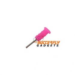 Roze stofkapje voor de headset ingang voor de iPhone en iPad