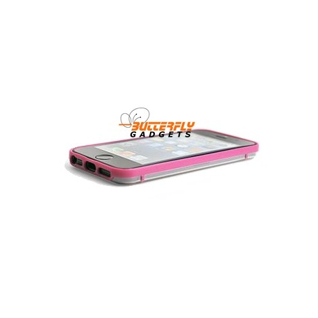 Glow in the Dark bumpercase voor de iPhone 5, iPhone 5s - Paars Roze