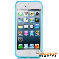 Blauw Glow in the Dark hoesje voor de iPhone 5, iPhone 5s