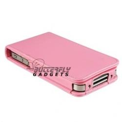 Flipcase met pashouder voor de iPhone 4, 4G (roze - pink)