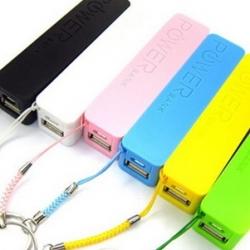 Nood oplader van 2600mAh voor de iPhone 3, 4, 4s, 5, 5c, 5s - Zwart, Wit of Roze