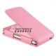 Flipcase met pashouder (wallet) voor de iPhone 4, 4S (roze)