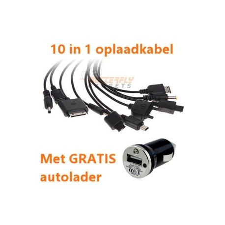 Handige 10 in 1 multifunctionele USB oplaadkabel voor vele toestellen