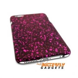 Funky opvallend en uniek hoesje met fel roze spetters voor de iPhone 6 PLUS