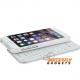 Uitschuifbaar bluetooth toetsenbord - case voor de iPhone 6 - Wit