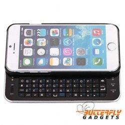 Uitschuifbaar bluetooth toetsenbord - case voor de iPhone 6 - Zwart