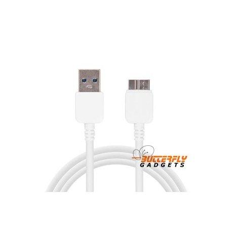 USB 3 kabel voor de Samsung Galaxy S5, Note 3, Wit, 1 meter
