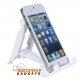 Witte inklapbare bureauhouder voor de iPhone 6, 6 Plus, 5, 5s, 5c en iPad