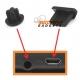 Beschermingskapjes voor de headset en USB ingang tegen stof en vuil