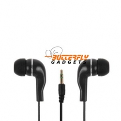 Zwarte stereo in-ear headset voor de iPhone en iPad
