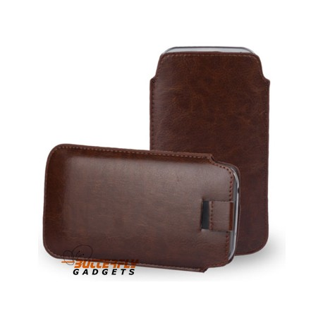 Handig bruin insteekhoesje voor de iPhone 7, 6s en 6