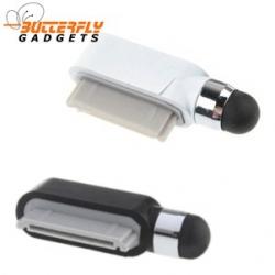 Dust cap met stylus voor de iPhone 3, 4 en iPad zwart