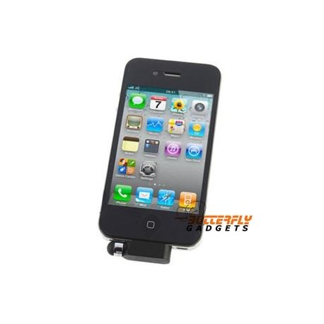 Dust cap met stylus voor de iPhone 3, 3G, 3Gs, 4, 4G zwart
