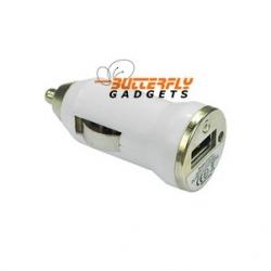 Mini Autolader (12 volt) voor de iPhone (wit)