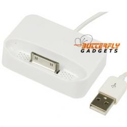 Dockingstation (dock in, bureaulader) met kabel voor iPhone 3G, 3GS (wit)