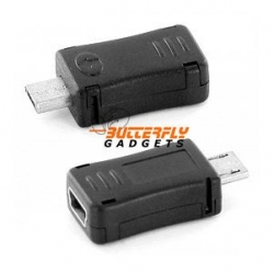 Mini USB naar Micro USB connector voor o.a. Nokia en Blackberry toestellen