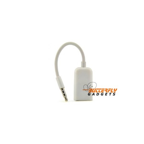 Headset splitter voor de iPhone 3 en 4 en iPod (wit)