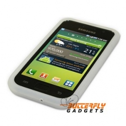 Samsung Galaxy S i9000 silicone hoesje - Wit