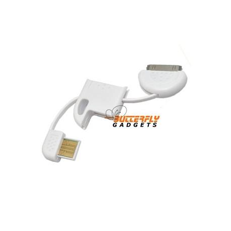 Oplaadkabel voor de iPhone en iPod voor aan de sleutelhanger - wit