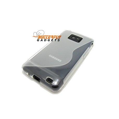 Flexishield case met goede grip voor de Samsung Galaxy S2 i9100 (smokey grey)