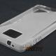 Flexishield case met goede grip voor de Samsung Galaxy S2 i9100 (wit - transparant))