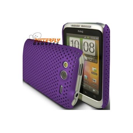 Mesh case cover voor HTC WildFire S (Paars)