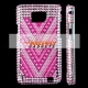 Bling Bling Samsung Galaxy S2 i9100 cover - Roze - V
