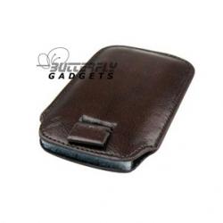 Case (pouch holster) met strap voor de iPhone 3, 3G, 3GS, 4, 4S - Zakelijk bruin