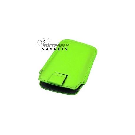 Case (pouch holster) met strap voor de iPhone 3, 3G, 3GS, 4, 4S - Licht groen