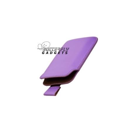Case (pouch holster hoesje) met strap voor de iPhone 3, 3G, 3GS, 4, 4S - Paars