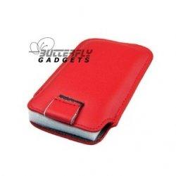 Case (pouch holster hoesje) met strap voor de iPhone 3, 3G, 3GS, 4, 4S - Rood