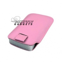 Case (pouch holster hoesje) met strap voor de iPhone 3, 3G, 3GS, 4, 4S - Roze