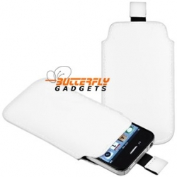 Case (pouch holster hoesje) met strap voor de iPhone 3, 3G, 3GS, 4, 4S - Wit