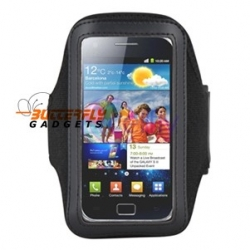 Lichtgewicht sport armband voor o.a. Samsung Galaxy en Nokia E7, N8, N900 (zwart)