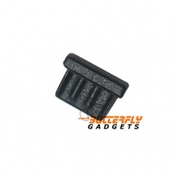 Stofkapje (dust cap) voor o.a. Samsung Galaxy S i9000, Sii i9100, HTC, Motorola etc. - zwart