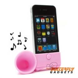 Hoorn speaker versterker - standaard voor de iPhone 3 en iPhone 4 - Roze